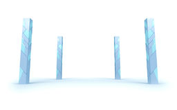 Futuristic pillars Stock Photography
