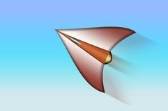 Futuristic plane. Royalty Free Stock Photos