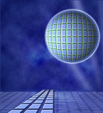 Futuristic Planet Space Background Royalty Free Stock Images