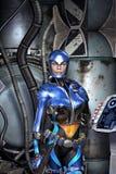 Futuristic police girl Royalty Free Stock Image