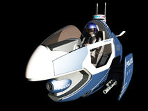 Futuristic police patrol vehicle Stock Photo