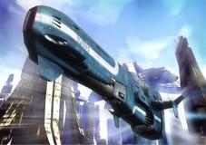 futuristic polis Royaltyfria Bilder