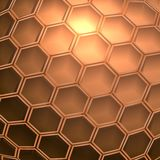 Futuristic polygonal background. Abstract futuristic industrial background with polygonal cells Stock Image