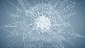 Futuristic polygonal core shape. Abstract 3d render Stock Photography
