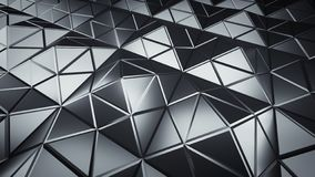 Futuristic polygonal grey shape 3D render illustration. Futuristic polygonal grey shape. 3D render illustration royalty free illustration