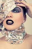 Futuristic portrait of a woman Royalty Free Stock Images