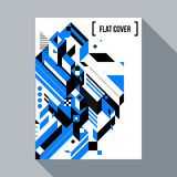 Futuristic poster/cover design with abstract element. Futuristic poster/cover design with abstract geometric element. Style of futurism and modern graffiti Stock Images