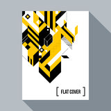 Futuristic poster/cover design with abstract element Royalty Free Stock Photography