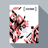 Futuristic poster/cover design with abstract element Stock Image