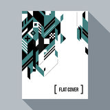 Futuristic poster/cover design with abstract element Stock Photos