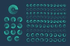 Futuristic Progress loading bar. Set of indicators. Download pro vector illustration