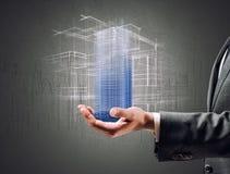 Futuristic project of a building Stock Photo