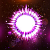 Futuristic purple colors star presentation Stock Photography