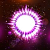 Futuristic purple colors star presentation Stock Photography