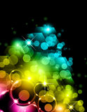 Futuristic Rainbow Lights Background Stock Photo