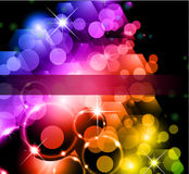 Futuristic Rainbow Lights Background Royalty Free Stock Photos