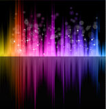 Futuristic Rainbow Lights Background Royalty Free Stock Image