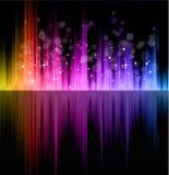 Futuristic Rainbow Lights Background royalty free stock image