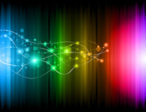 Futuristic Rainbow Lights Background for Poster Stock Photos