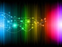 Futuristic Rainbow Lights Background for Poster stock illustration