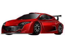 Futuristic red concept car. Vectorized image of a concept futuristic red sports car Royalty Free Stock Photography