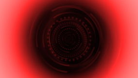 Futuristic red pattern spinning stock video footage