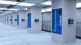 Futuristic render farm Stock Photo