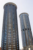Futuristic residential tower in Seattle. King County Stock Image