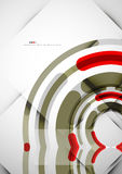 Futuristic rings background Royalty Free Stock Images