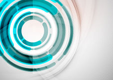 Futuristic rings and circles design template Royalty Free Stock Photo