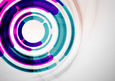 Futuristic rings and circles design template Stock Photography
