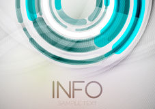 Futuristic rings and circles design template Stock Photo
