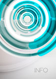 Futuristic rings and circles design template Stock Images