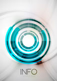 Futuristic rings and circles design template Stock Image