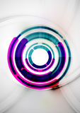 Futuristic rings and circles design template Royalty Free Stock Photography