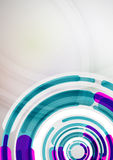 Futuristic rings and circles design template Royalty Free Stock Images