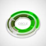 Futuristic rings, company logo, 3d design Stock Image