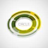 Futuristic rings, company logo, 3d design Stock Images