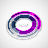 Futuristic rings, company logo, 3d design Royalty Free Stock Photos