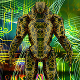 Futuristic robot Royalty Free Stock Images