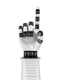 Futuristic Robot Hand Showing One Finger Royalty Free Stock Images