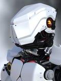 Futuristic robot portrait. Stock Images