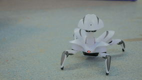 Futuristic robot spider dancing stock footage