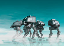Futuristic robots Stock Photography