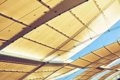 Futuristic roof on the exhibition Royalty Free Stock Images