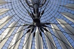 Futuristic roof, Potsdamer Platz, Berlin, Germany. Royalty Free Stock Photo