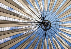 Futuristic roof at Sony Center Royalty Free Stock Images
