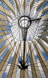 Futuristic roof at Sony Center. Potsdamer Platz, Berlin, Germany Royalty Free Stock Images