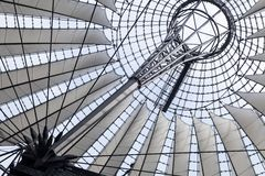 Futuristic roof at Sony Center in Berlin, Germany. Royalty Free Stock Image