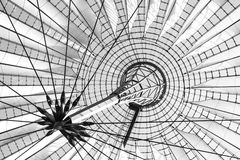 Futuristic roof of the Sony Center in Potsdamer Platz in Berlin.  stock photo